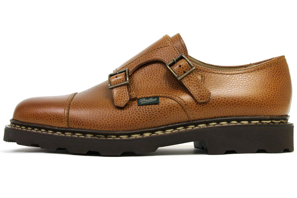 Paraboot double monk William grain leather Cognac (COGNAC Paraboot WILLIAM GR)