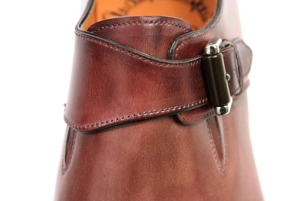 CRISPIN  Santoni monk strap Bordeaux (SANTONI 99581 MILTON LUX R46 ... 4a75740e49d