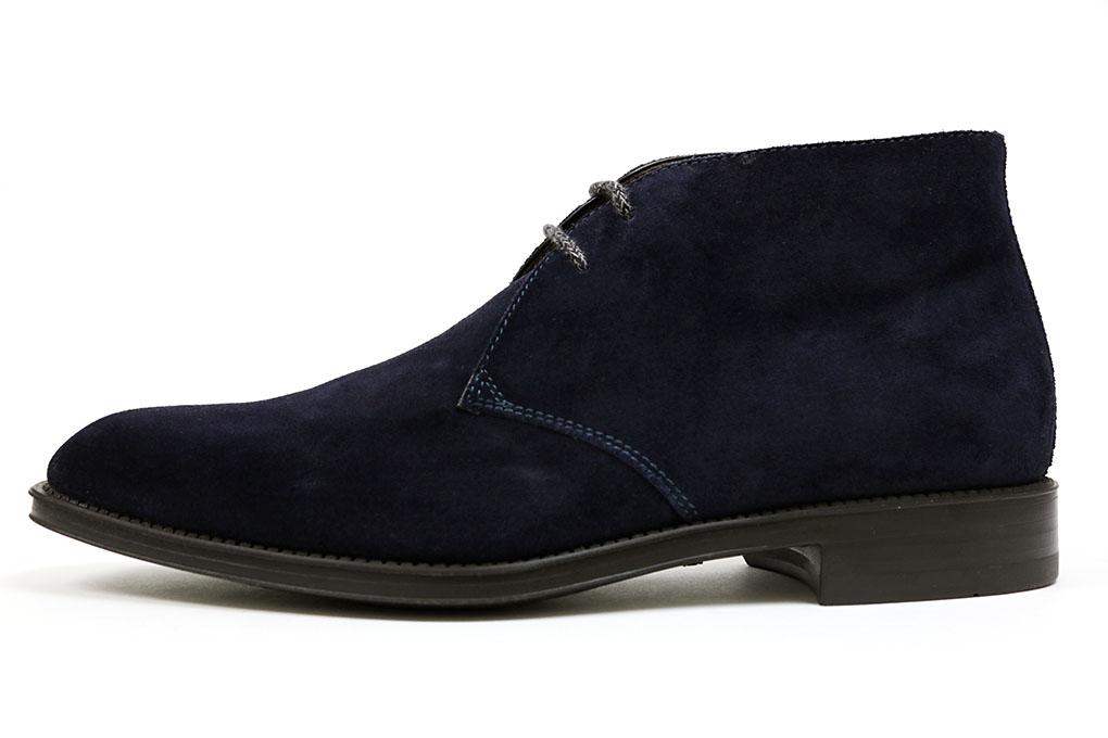 랏 체 다크 블루 스웨이드 (SANTONI 12592 CHAMOIS DARK BLUE)