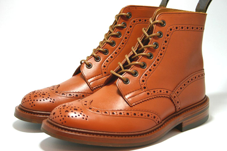 Trickers country boots ウィングチップブローグ C シェイドゴース ダイナイトソール ( SHADE Boots C, Tricker's m2508 Brogue GORSE ) 10P28oct13