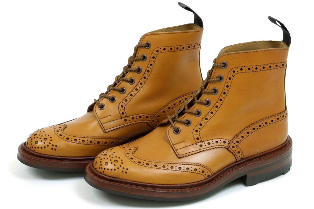 トリッカーズ カントリー ブローグブーツ エイコーン アンティーク リッジウェイソール (Tricker's m5634 Brogue Boots Acorn Antique)