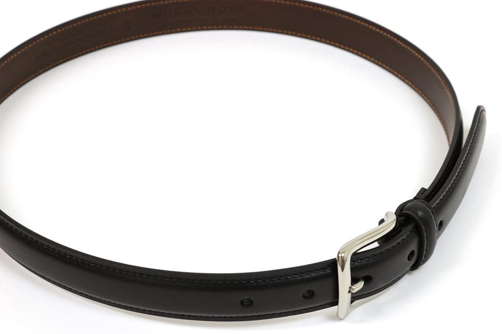 ウィールローブ オリジナルドレスベルト クロムエクセル ブラック (WHEEL ROBE ORIGINAL DRESS BELT 25mm BLACK)