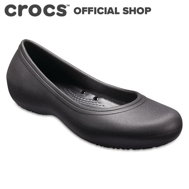 送料無料 クロックス公式 アット 蔵 ワーク フラット ウィメン Crocs At Work ワークシューズ Flat NO 格安SALEスタート crocs フラットシューズ パンプス レディース 業務用