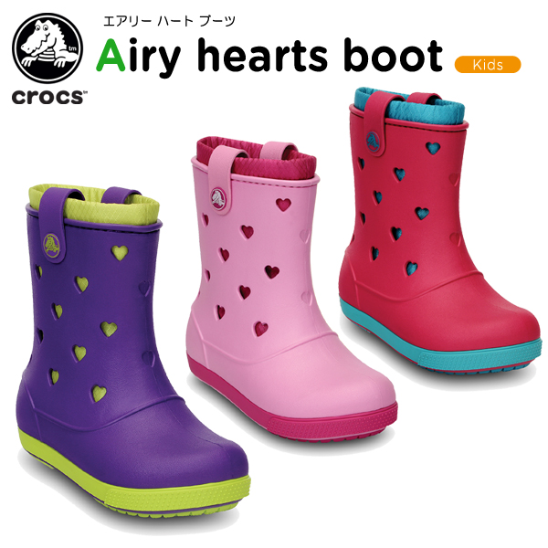 [C/B] for the clocks (crocs) clock band air Lee heart boots (crocband airy  hearts boot) kids / boots / shoes / child