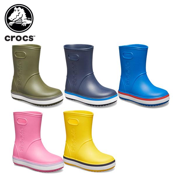 【シューズ送料無料】【crocs正規取扱店】 【20%OFF】クロックス(crocs) クロックバンド レイン ブーツ キッズ(crocband rain boot kids) キッズ/長靴/シューズ/子供用[C/A][H]【ポイント10倍対象外】