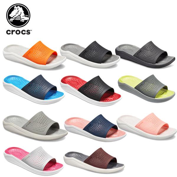 シューズ送料無料 crocs正規取扱店 25%OFF クロックス crocs ライトライド 国産品 スライド literide slide 男性用 サンダル B 日本最大級の品揃え シューズ 女性用 レディース メンズ C