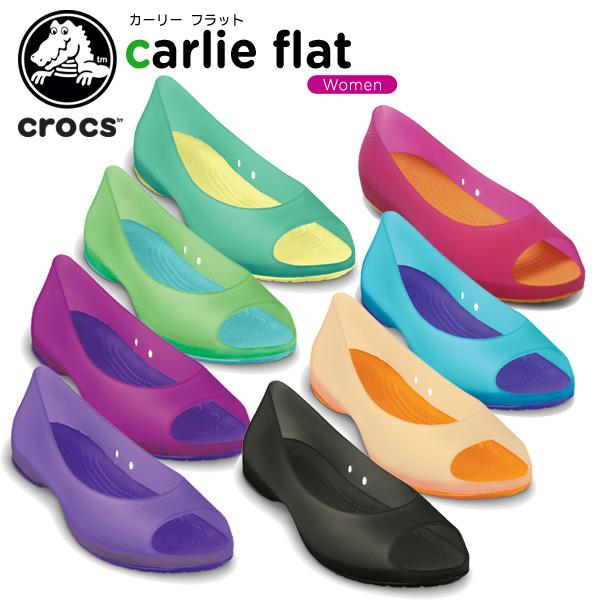 cd7a4b7d28cc7 crohas    sandals   shoes   flattie   for clocks (crocs) Carly flat ...