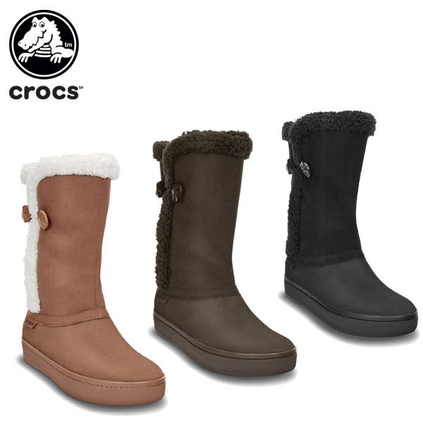 83803e7c80dd43 クロックス(crocs)モデッサシンセティックスエードボタンブーツウィメン(modessasyntheticsuedebottonbootw)/ レディース