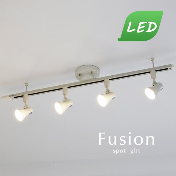 LED スポットライト【Fusion/ホワイト】ダクトレール 直付け おしゃれ 電球色 昼白色 ダイニング キッチン 照明 シンプル カフェ