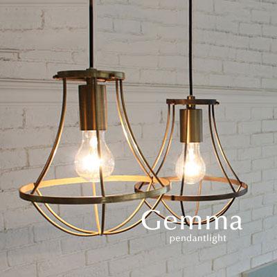 ペンダントライト【Gemma-small】アンティーク ゴールド ブラウン 1灯 レトロ コード クラシック アイアン シンプル カフェ フレンチ 南欧
