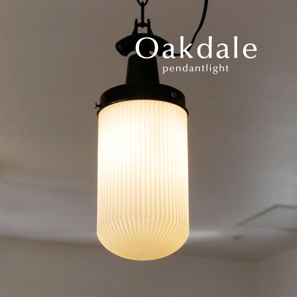 ペンダントライト LED電球【Oakdale/ホワイト】1灯 シンプル 店舗 工場 ガラス 照明 レトロ ヴィンテージ