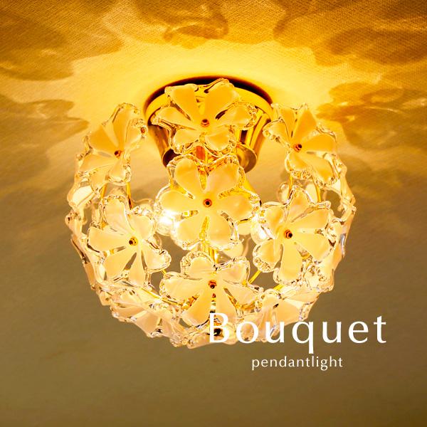 シーリングライト【Bouquet】3灯 ゴールド 寝室 玄関 キッチン ダイニング おしゃれ シンプル カフェ 直付け 照明 アクリル