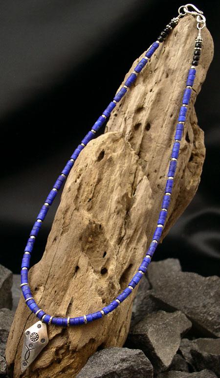 カレン 族 シルバー ラピスラズリ ネックレス メンズ レディース 盾型ペンダント