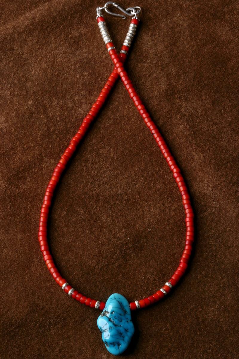 カレン 族 シルバー スリーピングビューティー ターコイズ ホワイトハート ネックレス メンズ レディース