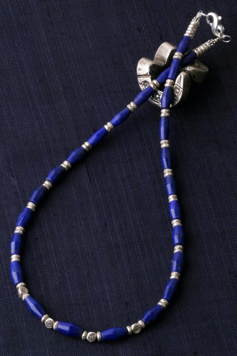 カレン 族 シルバー フェルメールの愛した青 ラピスラズリ ネックレス メンズ レディース 眼文様