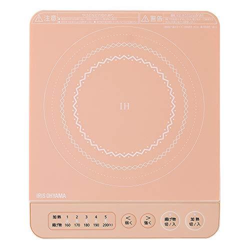 アイリスオーヤマ IHコンロ 1000W 卓上 IHK-T38-P 新色 完売 デザイン ピンク