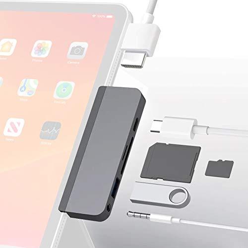 セール特価品 HyperDrive USB C ハブ Type 6ポートハブ 4K60Hz HDMI出力 PD給電 ウルトラスリム SDカードリーダー 高速データ転送 ポート 持ち運びに便利 MicroSD ハイスピード 限定タイムセール USB3.0 コンパクト薄型