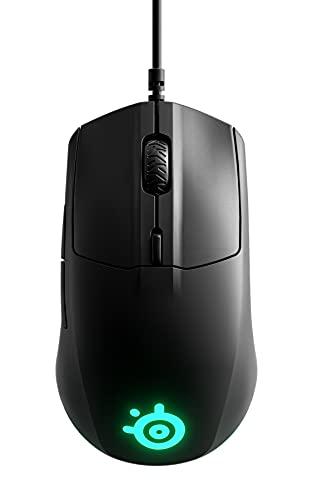 SteelSeries ゲーミングマウス 有線 軽量 低遅延 メカニカルスイッチ 3ゾーンRGBイルミネーション Rival 3 62513