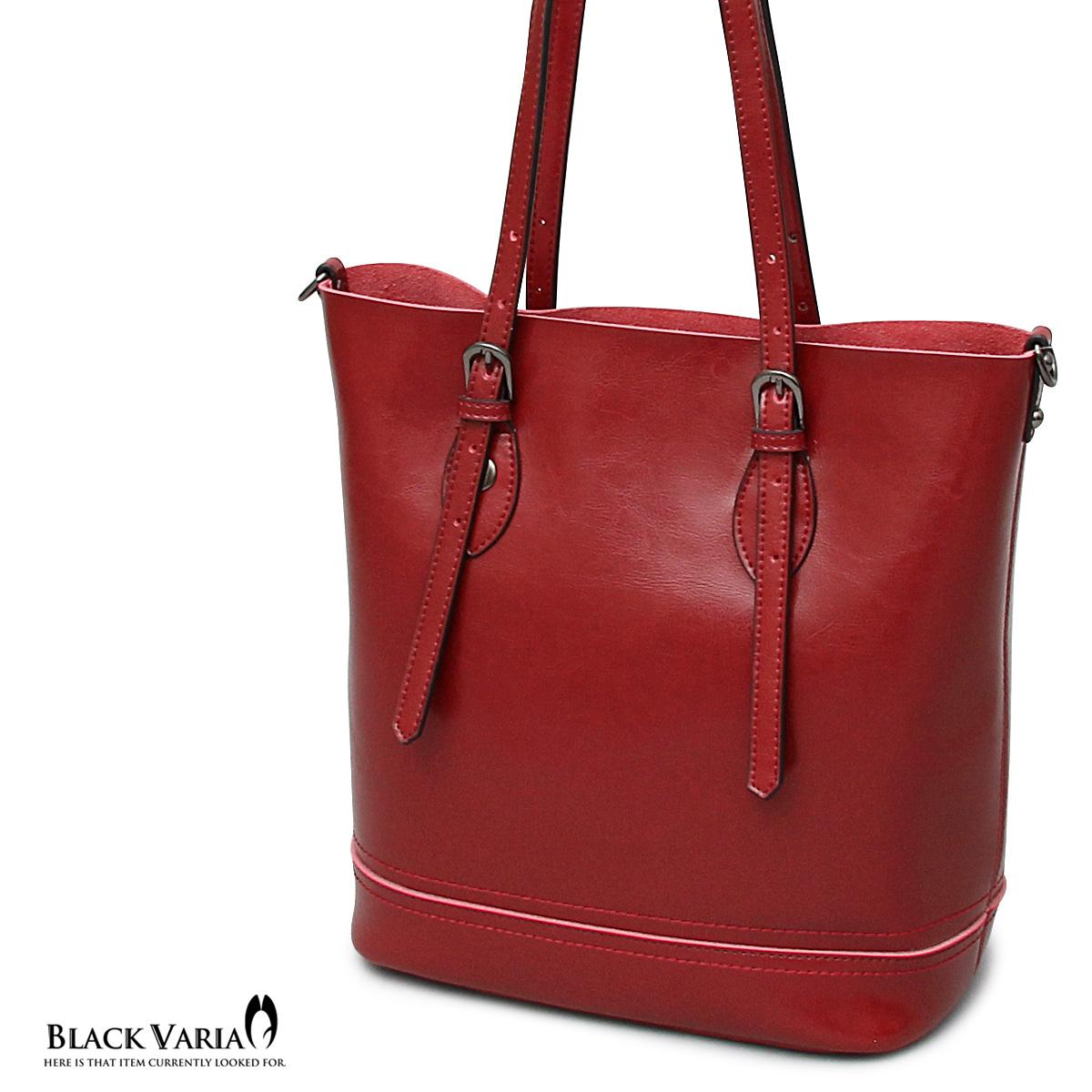 トートバッグ 牛床革 ショルダーバッグ ビジネストート メンズ 鞄 カバン(レッド赤) abg3022