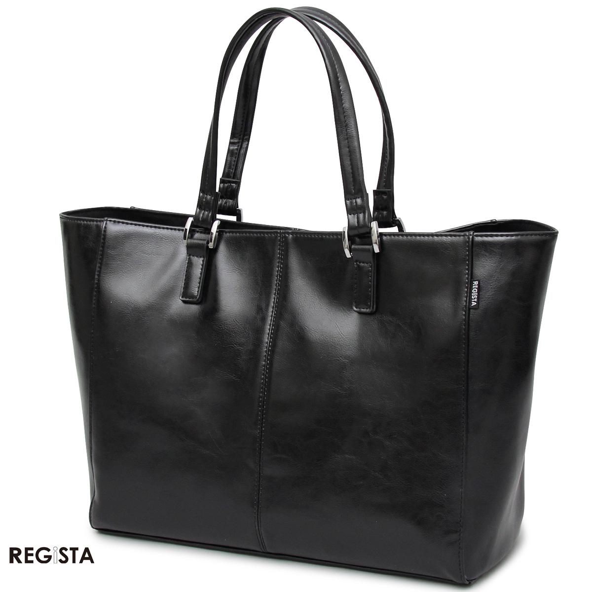 レザー トートバッグ ビジネス カバン 鞄 牛床革 メンズ(ブラック黒) 603