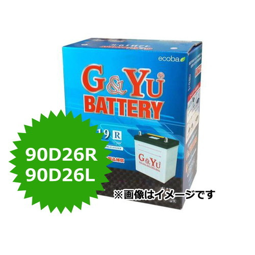 訳あり商品 G&Yu バッテリー バッテリー ecobaシリーズ ecb-90D26R エコバッテリー G&Yu ecb-90D26R (G&Yu), 武芸川町:dd5f5887 --- priunil.ru