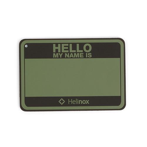 (Helinox)ヘリノックス Hello my name is パッチ フォリッジ