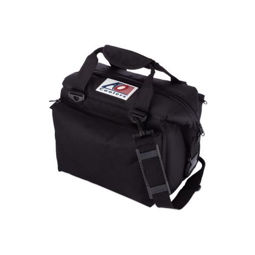 エーオークーラー 12パック キャンバス ソフトクーラー デラックス ブラック (AO coolers)