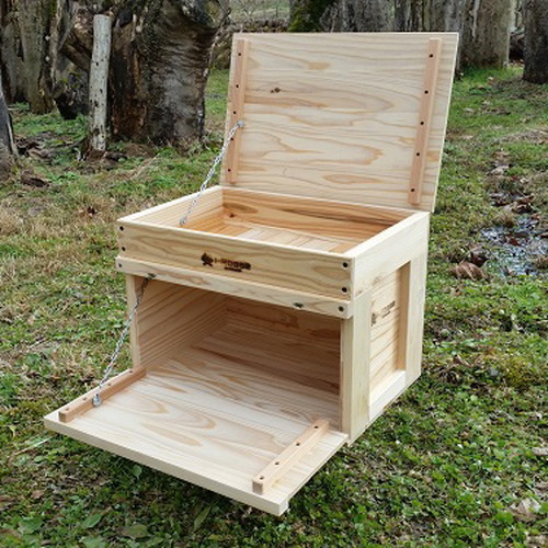 アイアールベースプロダクト STACK収納BOX hinge-woodcover (i-Rbase)