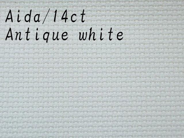 クロスステッチ 布 アイーダ 14ct 売り出し アンティークホワイト ツバイガルト Aida 毎週更新 Zweigart