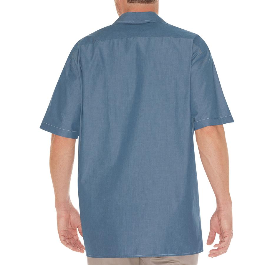 Dickies 1141573 ws509 chambray work shirt for Cross counter tv shirts
