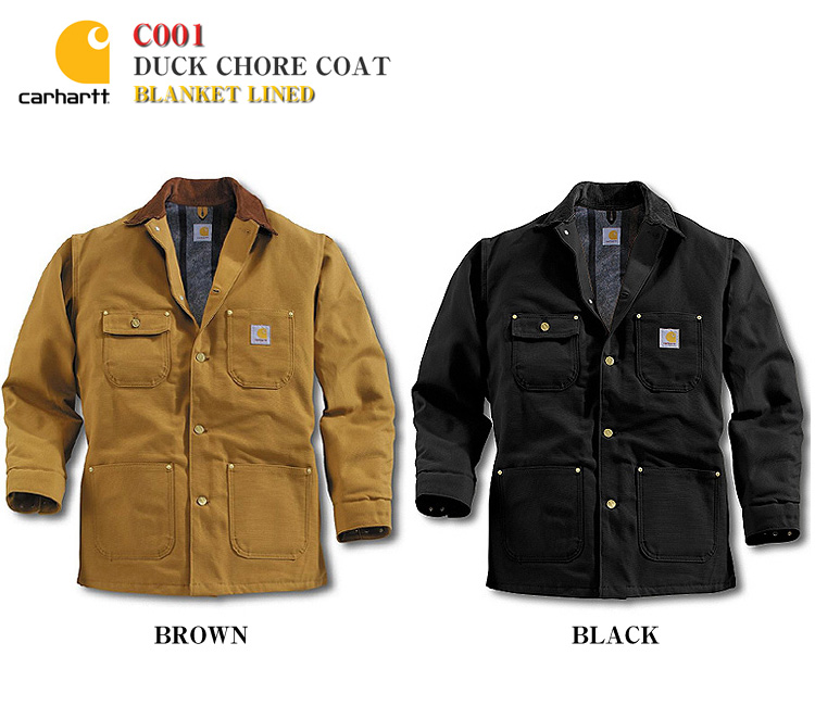 f84b9f014a Carhartt 10P13oct13_b C001 ダックコート work jacket Duck Chore Coat-Blanket Lined  blanket line ...
