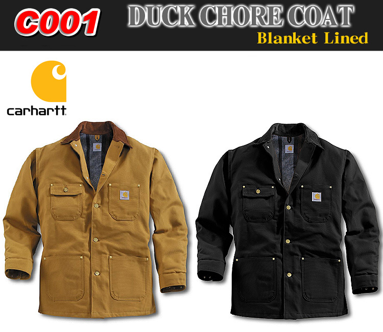7a018666a8 ... Carhartt 10P13oct13_b C001 ダックコート work jacket Duck Chore Coat-Blanket  Lined blanket line ...