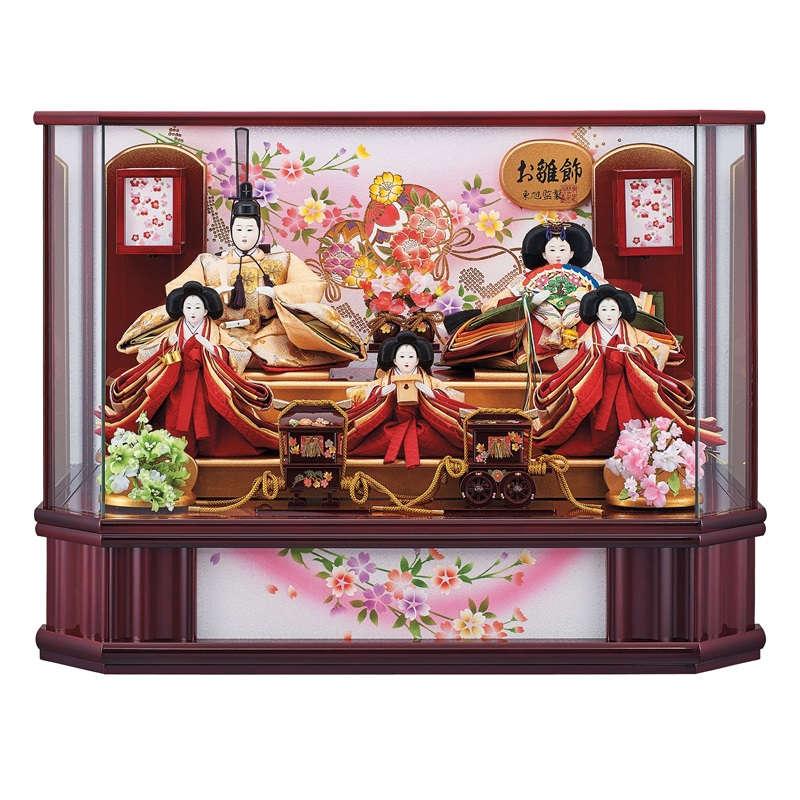 【雛人形】ケース入五人揃え 祥秀(5人) 幅63cm fn-29-2 新春宴 雛祭り