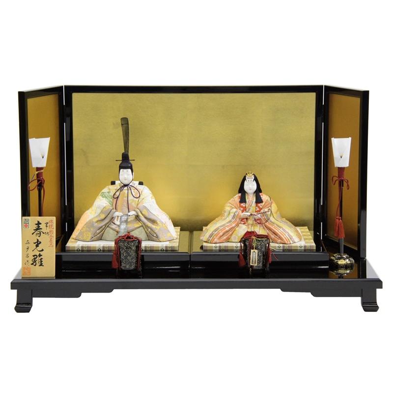 【雛人形】平飾り木目込み親王 帯地春光雛25070 幅68cm 3mk8 真多呂 伝統的工芸品 雛祭り