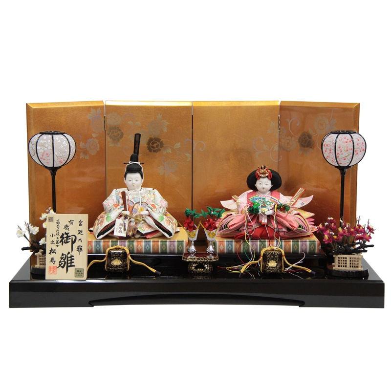 雛人形 親王平飾り【おぼこ雛】 [幅80cm] 小出松寿 市川伯英 頭[193to1589-a18] 雛祭り