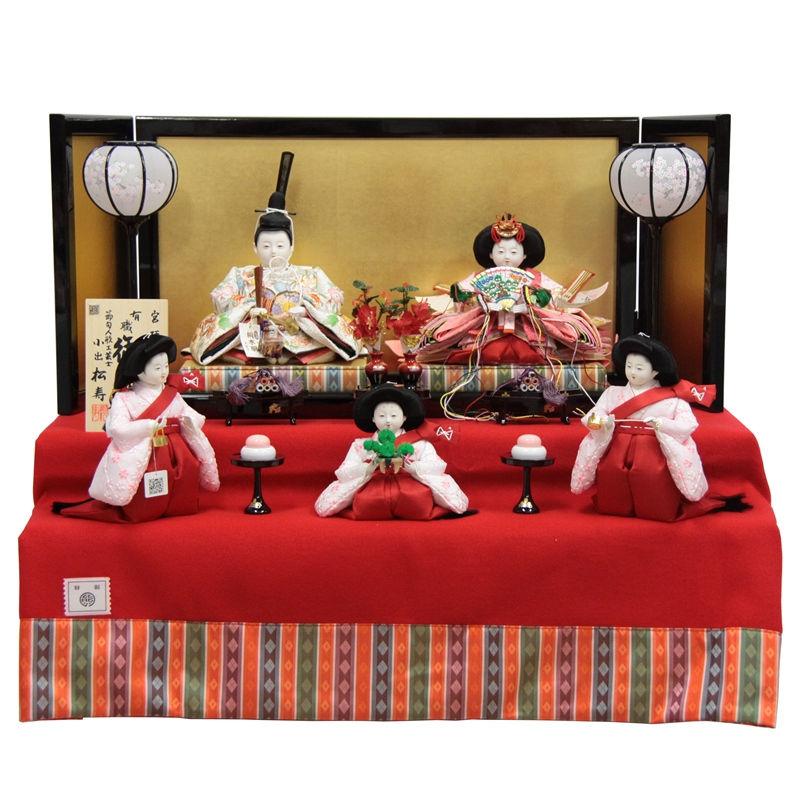 雛人形 五人二段飾り【おぼこ雛】 [幅75cm] 小出松寿 市川伯英 頭 [193to1685a18a38] 雛祭り