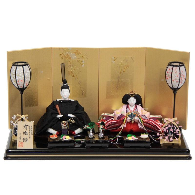 雛人形 親王平飾り【有職雛】正絹雲鶴[幅60cm]望月麗光[193to1719a77] 雛祭り