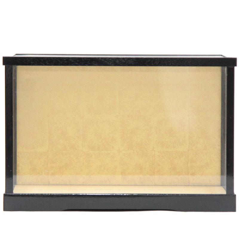 アウトレット品 見本使用 展示品です 人形用 ケース単品 3号ダルマ 黒塗り 22a-ya-1440 見切処分品 天板ガラス外すタイプ ディスプレイ インテリア 空ケース 幅33cm セール 特集 時間指定不可