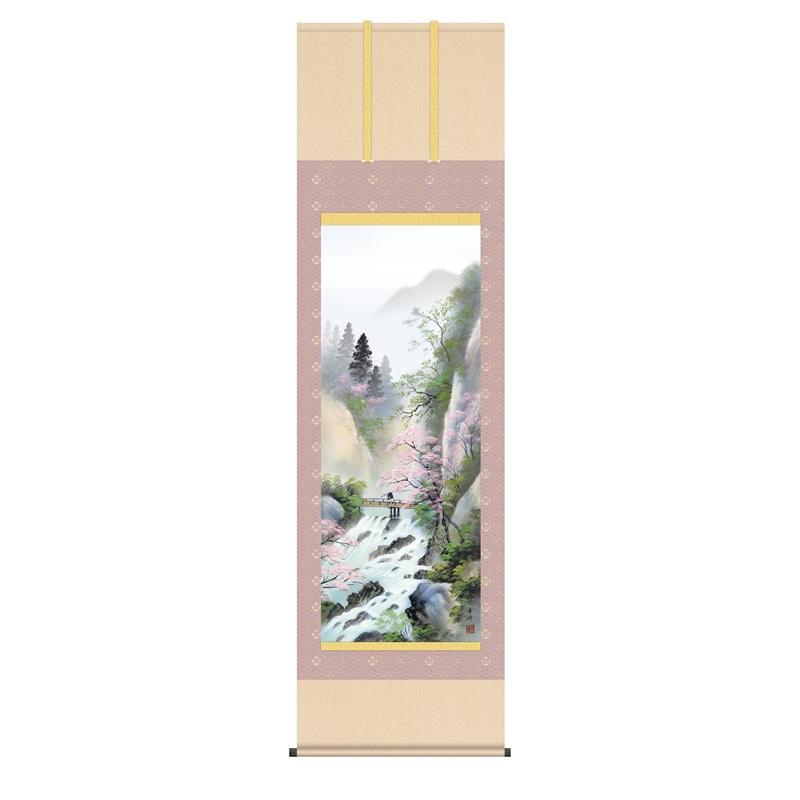 掛軸 [山水画]春掛け 【春招情景】 [尺五] [小林秀峰] [KZ2B4-26A](代引き不可)