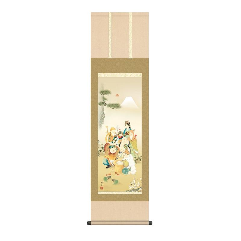 掛軸 慶事飾り[縁起画] 【七福神】 [尺三] [鵜飼雄平] [KZ2MD1-038](代引き不可)