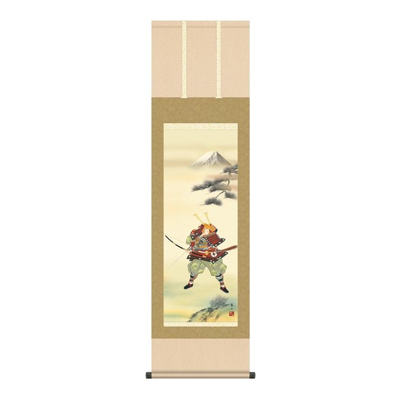 掛軸 行事飾り[端午の節句画]武者 【大成武者】 [尺三] [榎本東山] [KZ2MF2-078](代引き不可)