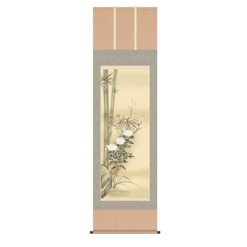 掛軸 [花鳥画] 【四君子】 田中広遠 尺五 [H30A1-039]【代引き不可】