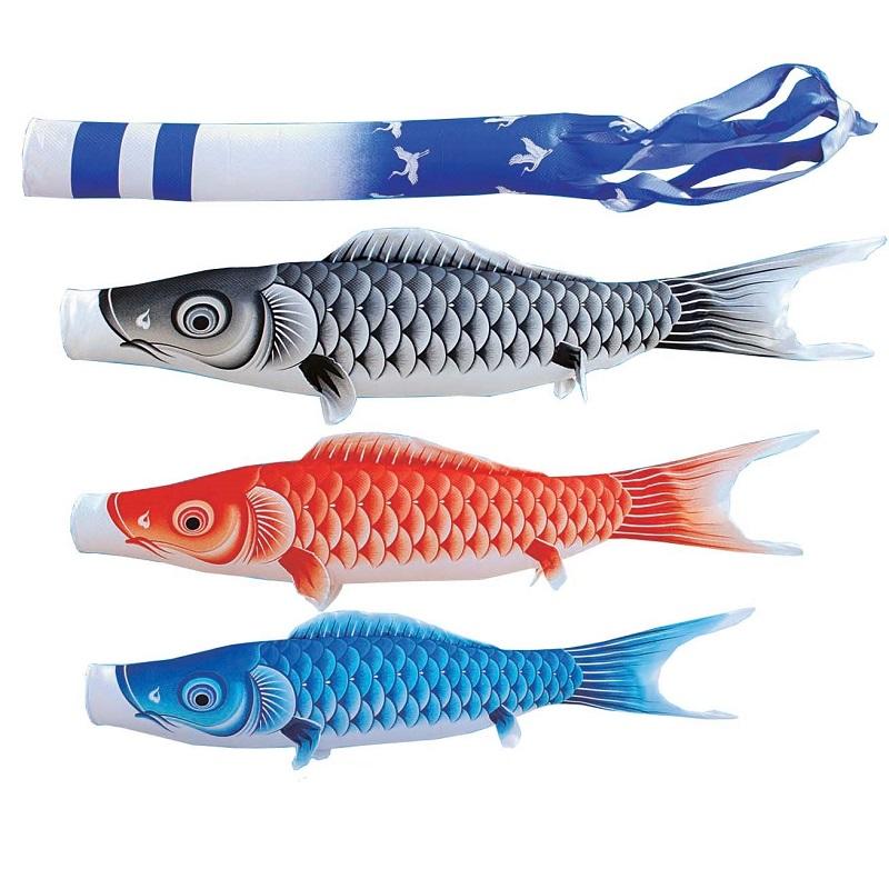 [キング印]鯉のぼり 庭園用[ポール別売り]大型鯉[10m鯉3匹]【瑞宝(ずいほう)撥水】[撥水加工][日本の伝統文化][こいのぼり]