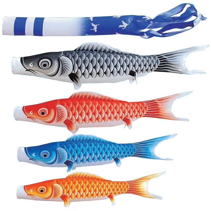 [キング印]鯉のぼり 庭園用[ポール別売り]大型鯉[5m鯉4匹]【瑞宝(ずいほう)撥水 [キング印]鯉のぼり】[撥水加工][日本の伝統文化][こいのぼり], アットマックス@:7cacb5ef --- organicoworking.com.br