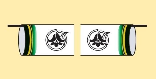 [徳永鯉][鯉のぼり]室内飾り鯉のぼり[豪セット用][同一の花個紋を両面に][tn-SF14][日本の伝統文化][こいのぼり]