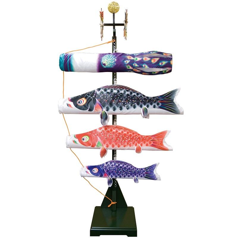 [徳永][鯉のぼり]室内用[室内飾り鯉のぼり][80cm鯉3匹][星歌友禅][日本の伝統文化][こいのぼり]