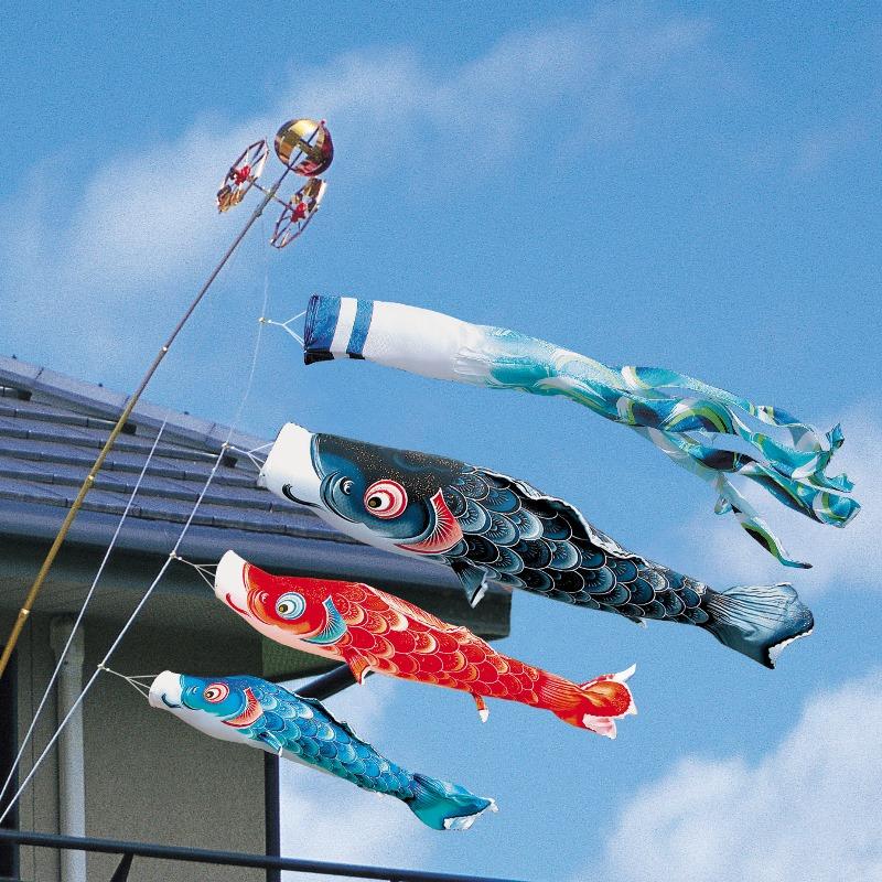 [徳永][鯉のぼり]ベランダ用[ロイヤルセット]格子取付タイプ[1.5m鯉3匹][風舞い][風舞い吹流し][撥水加工][日本の伝統文化][こいのぼり], 2nd STREET:87953c1c --- coamelilla.com