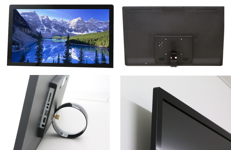 Full HD playback! Big screen! Can be used at home or shop! 24-inch LCD  Digital photo frame / electronic POP