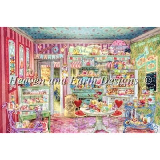 クロスステッチ刺繍キット Heaven And Earth Designs(HAED) - Aimee Stewart - The Little Cake Shop クロスステッチ キット