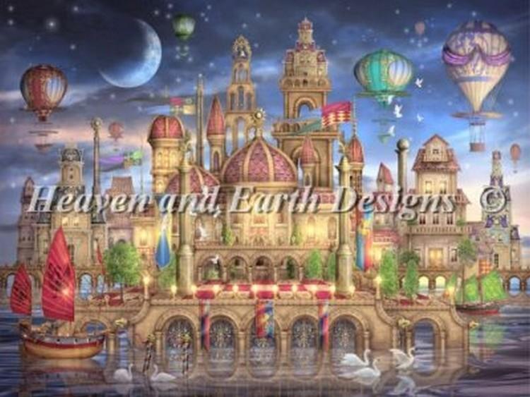 クロスステッチ刺繍キット Heaven And Earth Designs(HAED) - Ciro Marchetti - Downtown クロスステッチ キット, ヒガシネシ b78a95ff